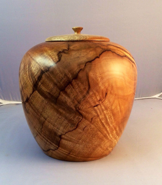 Wooden Cremation urn, Australian Mango wood. Unusual and