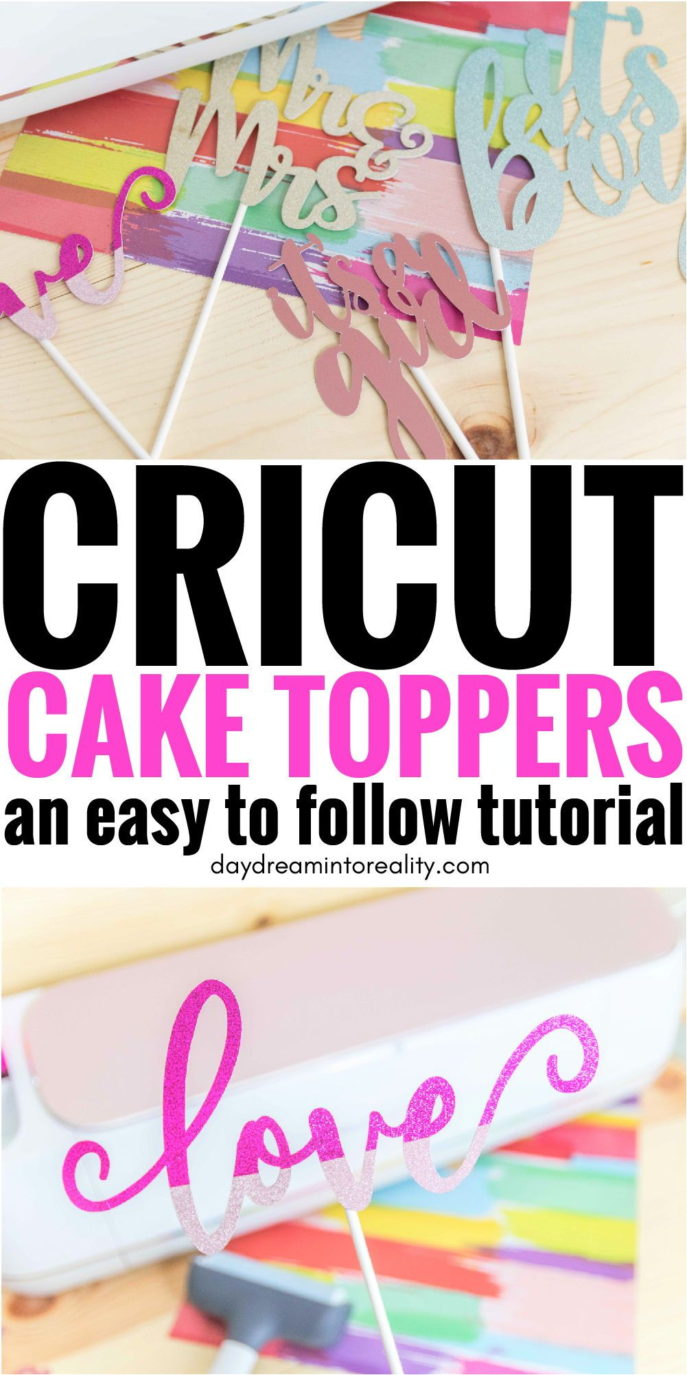 Make Cake Toppers With Cricut #cricuthacks