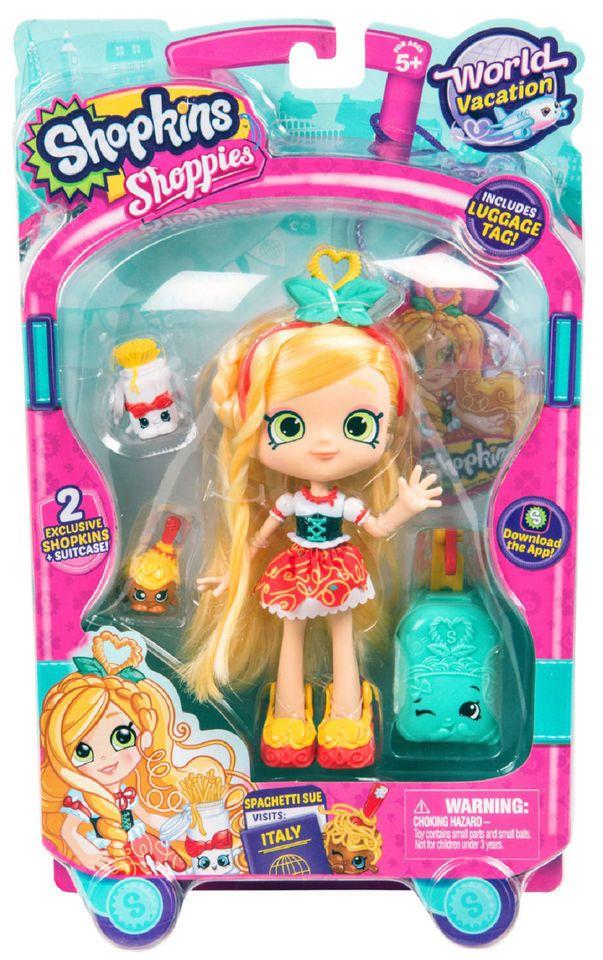 Shopkins World Vacation Europe Shoppies Doll Spaghetti Sue