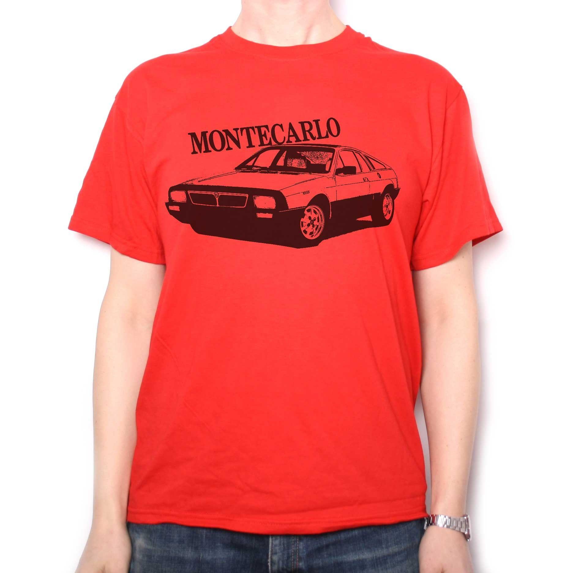 30f9e598c125a0 Classic Car T Shirt - Lancia Montecarlo   Automotive T Shirts   T ...