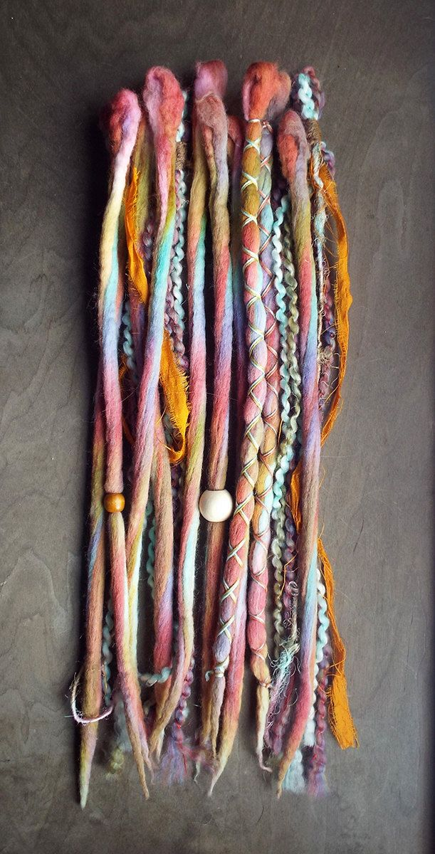 Set Of 10 Total Hair Extensions Set Includes 6 Wool Tie Dyed