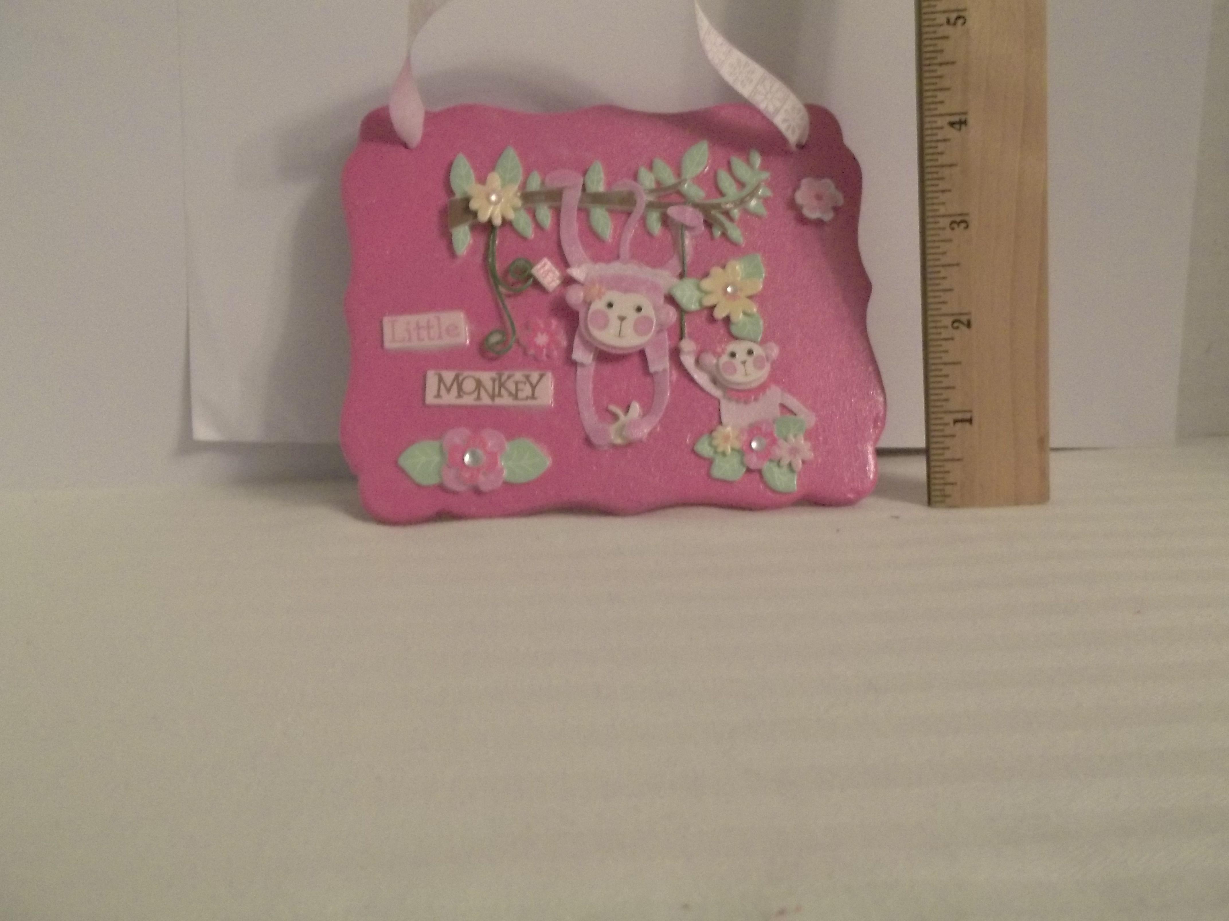 Price 500 pink ceramic tile my little monkey 5x 6plaque price 500 pink ceramic tile my little monkey 5x 6 dailygadgetfo Choice Image
