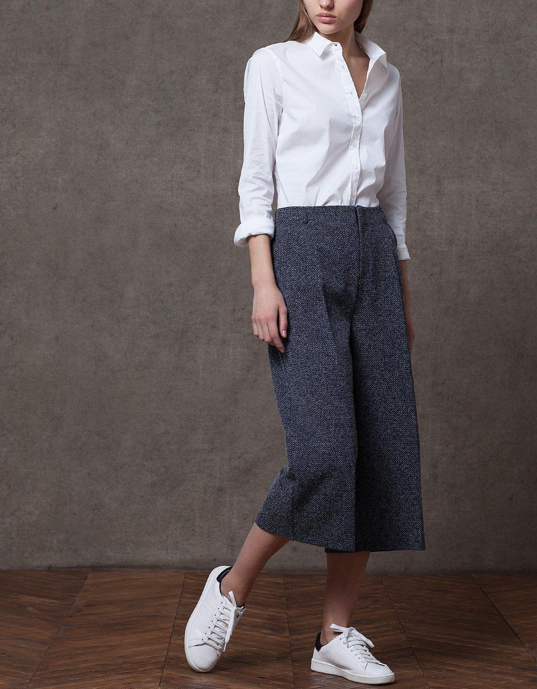 Pantalone culotte struttura – null| Stradivarius Italia – Saldi d'inverno