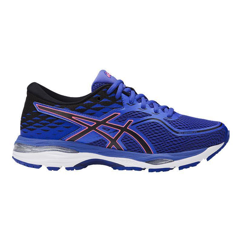 Asics Women S Gel Cumulus 19 2a Narrow Width Running Shoes Blue Purple Orange Asics Asics Women Running Shoes