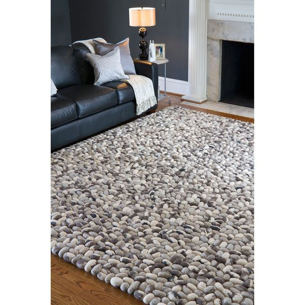 Hand Woven Albie Wool Stone Look Textured Rug 8X10