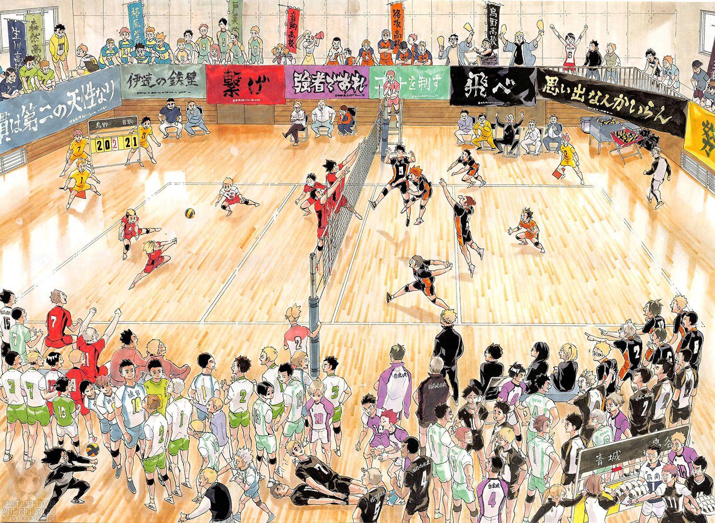 Haikyuu Chapter 402 Karasuno Volleyball Club Gather Haikyuu Manga Online In 2020 Haikyuu Manga Haikyuu Haikyuu Fanart