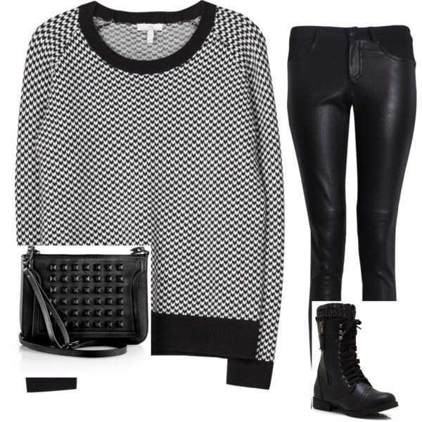 """Black and White"" by frufru21 on Polyvore"