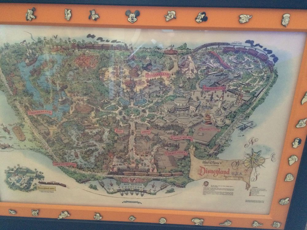 Disney 50th anniversary disneyland original map complete 38 border contemporary disney collectibles 1968 now ebay gumiabroncs Image collections