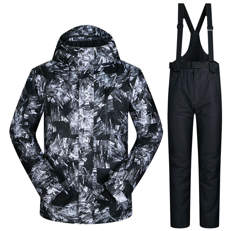 a521a541b2 2017 New Winter Ski Suit Men Outdoor Thermal Waterproof Windproof Snowboard  Jackets Pants Climbing Snow Skiing Clothes Set Brand