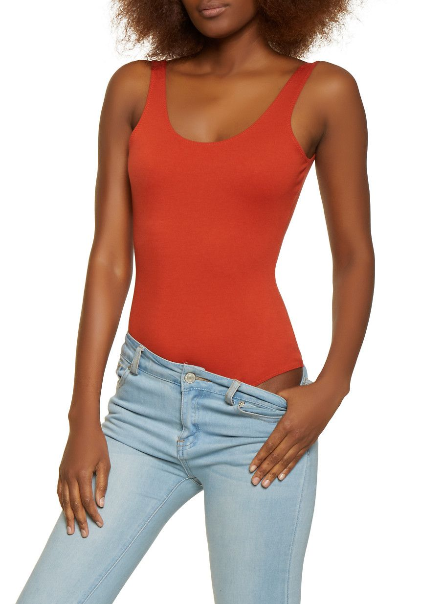 0d5ffcff4039 Sleeveless Ponte Bodysuit - Brown - Size S in 2019 | Products | Tank ...