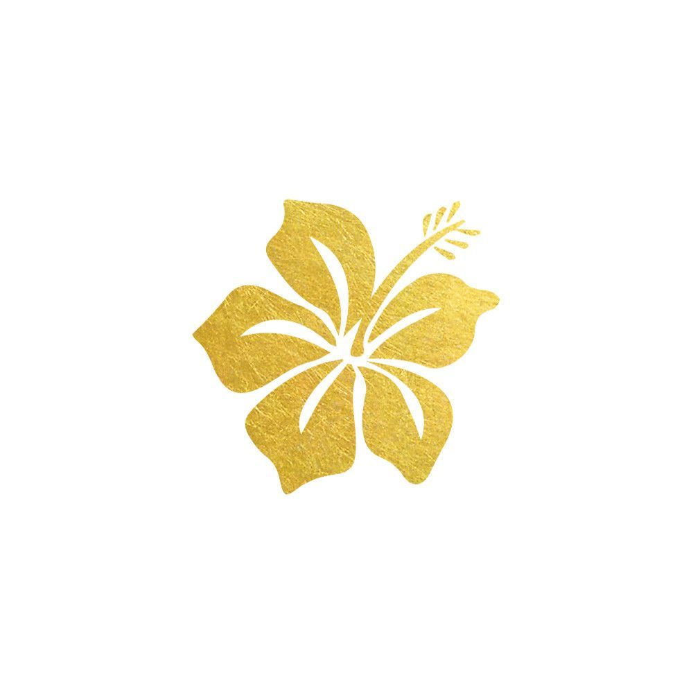 Add some tropical vibes to your everyday life with this gold add some tropical vibes to your everyday life with this gold hawaiian flower tattoo 2 izmirmasajfo Images
