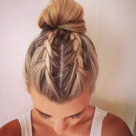 Amazing Braided Hairstyles For Medium Long Hair Delightful - Bun hairstyle games