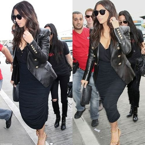 Kim k Love the rock and roll outfit and sunglasses!!