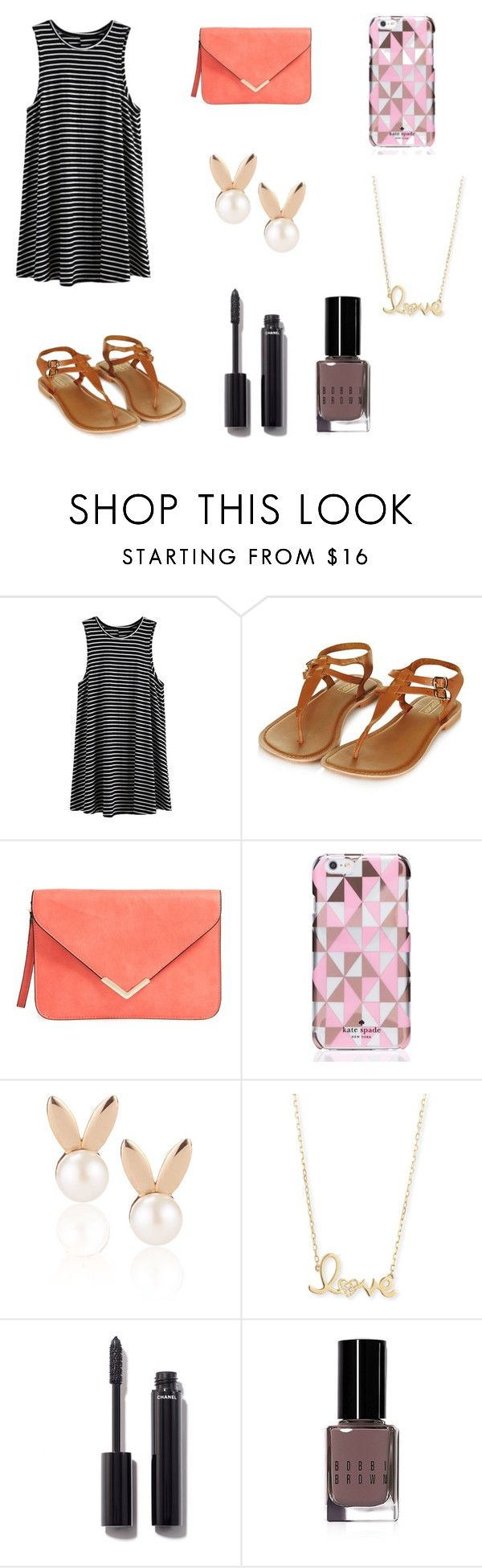 """""""Summer vibes"""" by hellofashion22 ❤ liked on Polyvore featuring Topshop, Kate Spade, Aamaya by priyanka, Sydney Evan, Chanel and Bobbi Brown Cosmetics"""