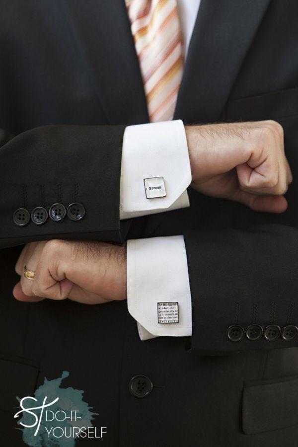 Diy wedding learn how to make wedding cufflinks wedding party gifts diy wedding learn how to make custom wedding cufflinks theyre so solutioingenieria Choice Image