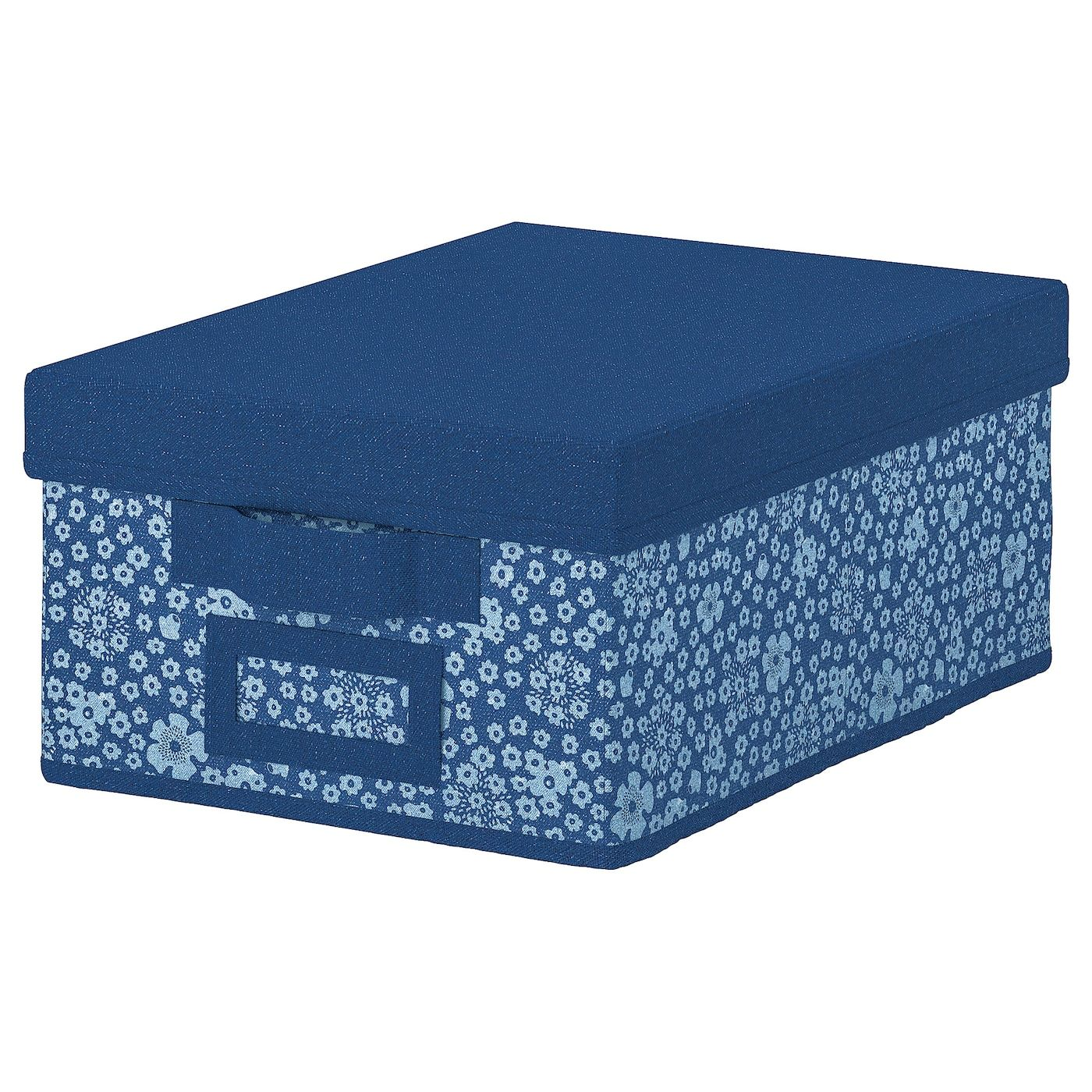 Ikea Storstabbe Box With Lid Blue White Ikea Box With Lid