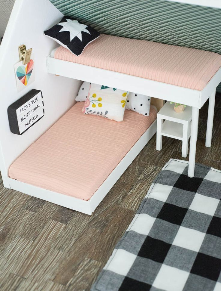modern dollhouse makeover #bonecas