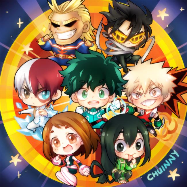Univers Anime Manga: All Might, Aizawa Shouta, Todoroki Shouto, Midoriya Izuku