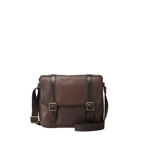 159.95 New Fossil Mens Estate City Bag (Dark Brown)  e76f67e77c204