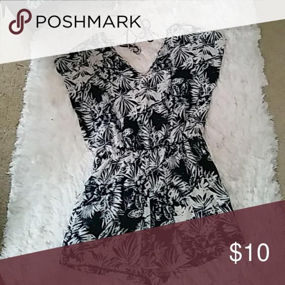 6a6edc38ddb7 Plus size blue and cream romper Blue and cream leaf print. Ties to tie  around neck and control amount of cleavage shown. Charlotte Russe Pants  Jumpsuits   ...