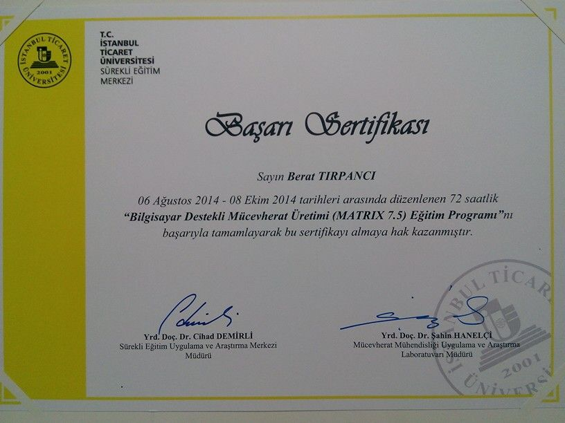 Matrix  Training Program Certificate Of Achievement  My
