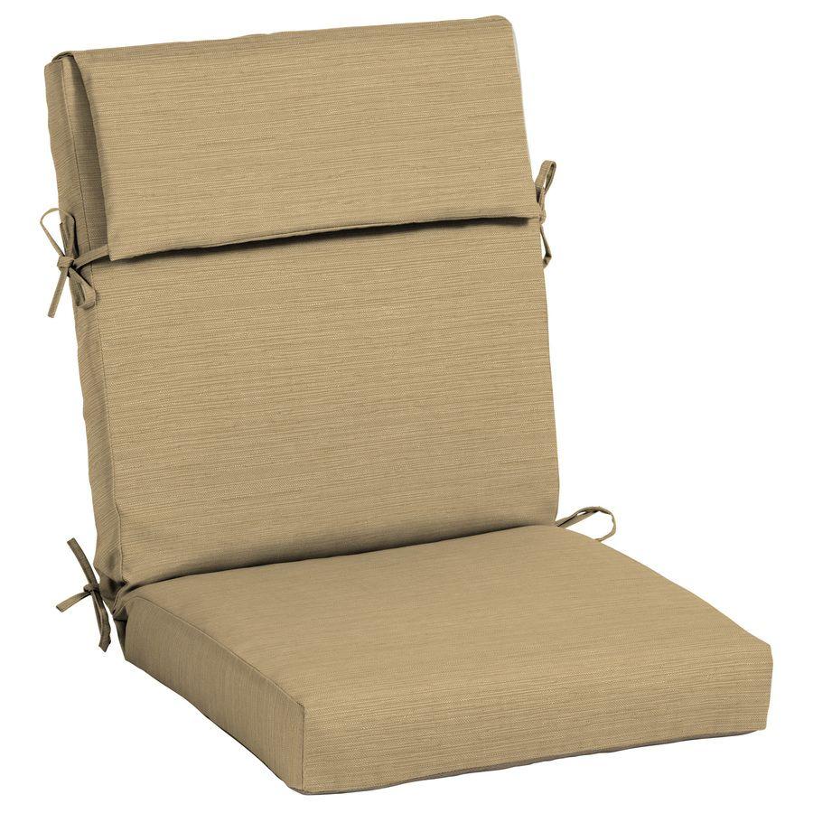 Allen Roth Texture High Back Patio Chair Cushion For
