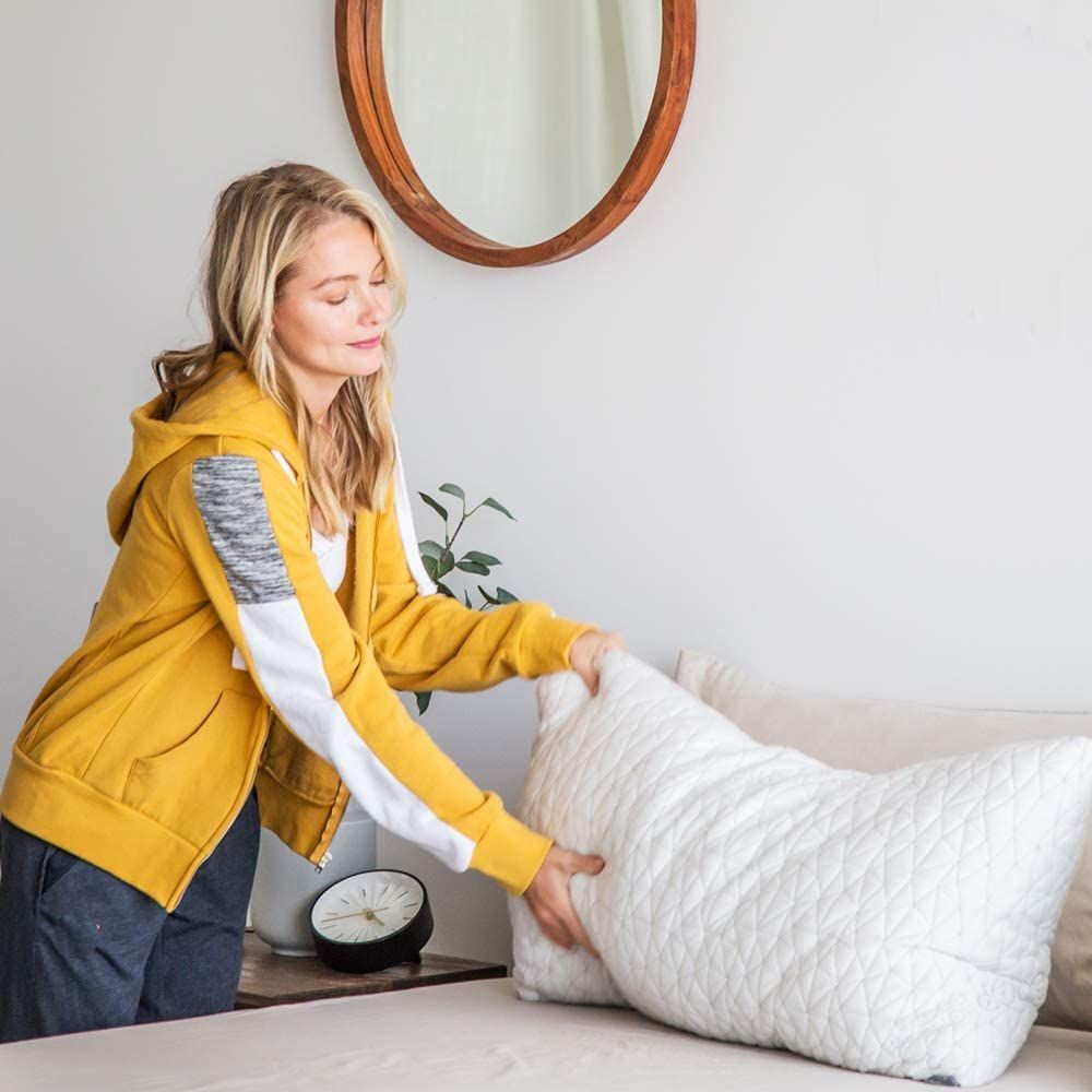 Original Adjustable Loft Pillow, Hypoallergenic Shredded Memory Foam & Microfiber, Lulltra Washable Cover from Bamboo Derived Rayon, CertiPUR-US/GREENGUARD Gold Certified, King