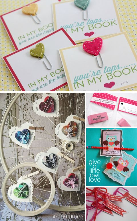 Buch of super cute DIY Valentines.
