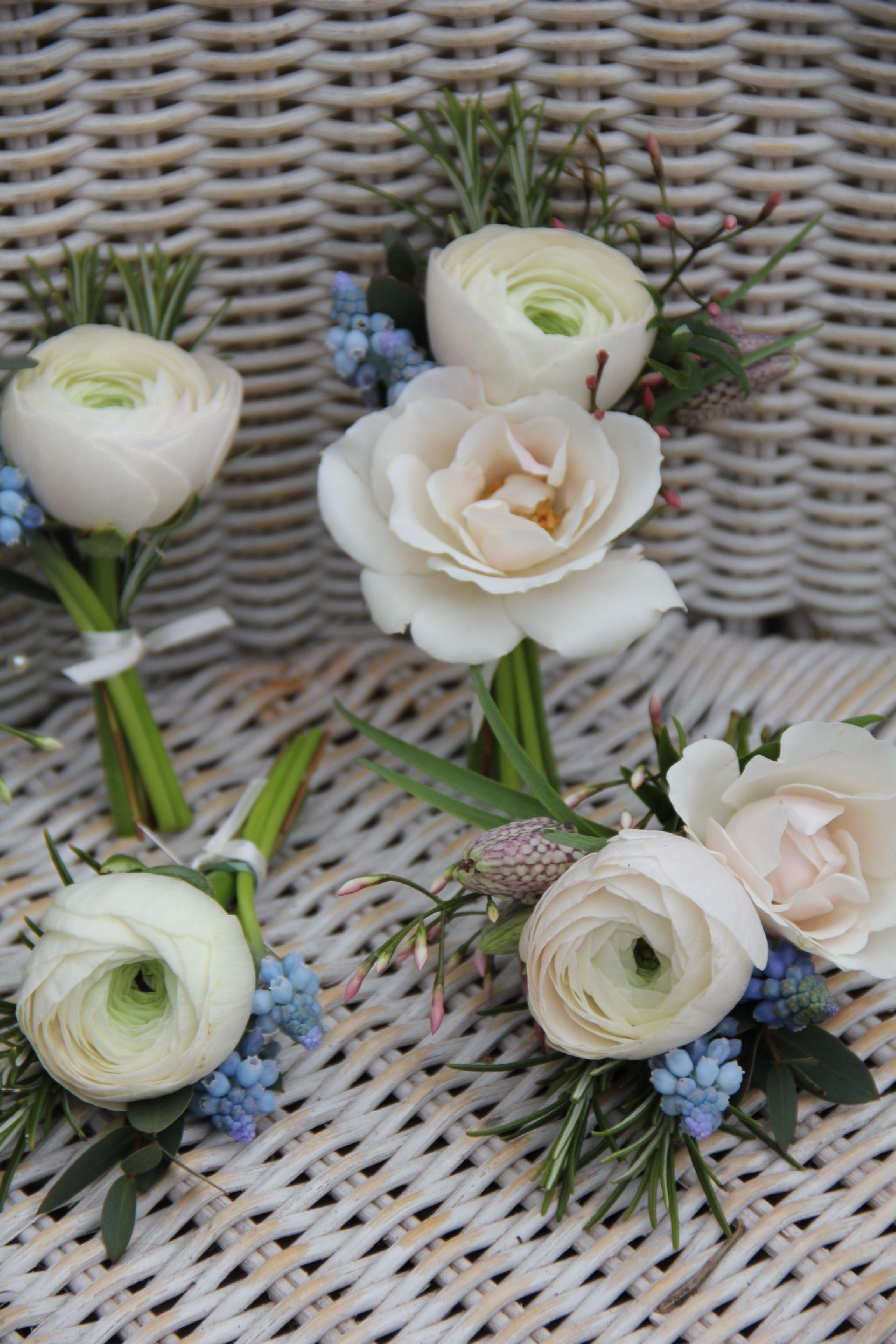 gray button hole wedding accessories prom Grey white sage green flower boutonniere