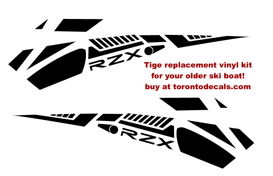 Tige Ski Boat Rzx Decal Kit For Your Old Model Tige Upgrade Your Graphics Tigeboats Boatstickers Lakelife Boating Boatgraphic Boat Decals Graphic Kit Vinyl