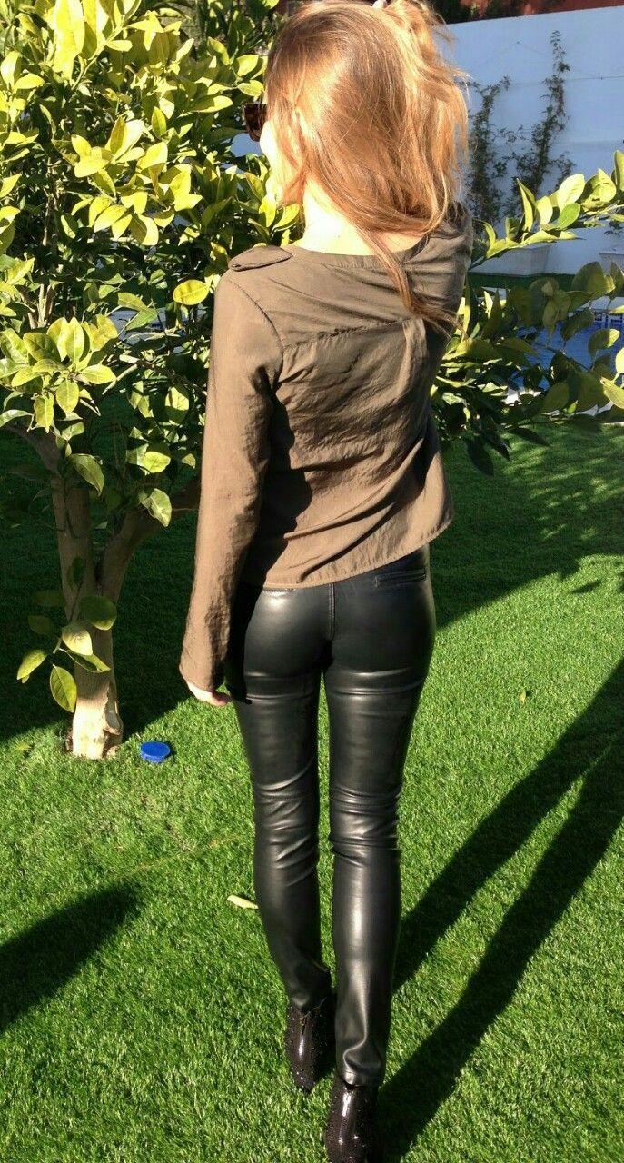 Stories slut wife leather pants