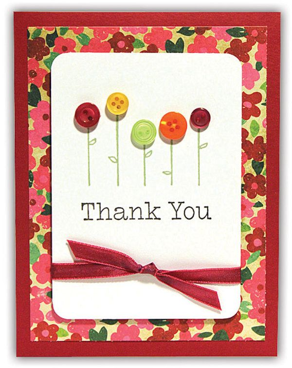 Flowers To Thank You Card From The Crafts Direct Card Chaos For