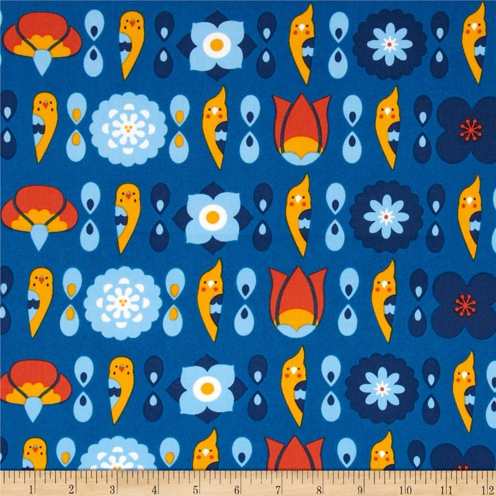 Designed by Kokka, this medium weight (6 oz./square yard) cotton/linen blend canvas fabric is perfect for toss pillows, window treatments, apparel and more. Colors include shades of blue, orange, yellow, and white.
