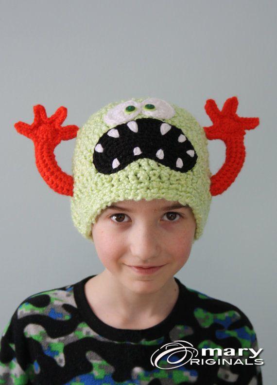 Monster Hat Funny Hat Crochet Beanie Children S