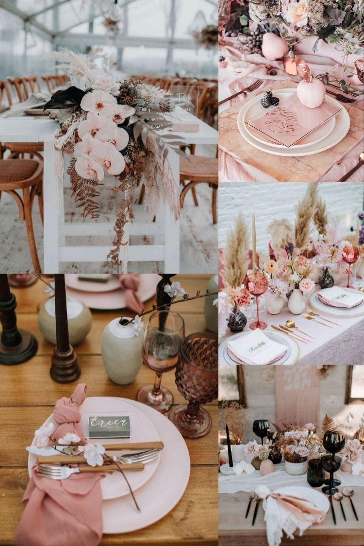 20 modern blush and black wedding color ideas unique