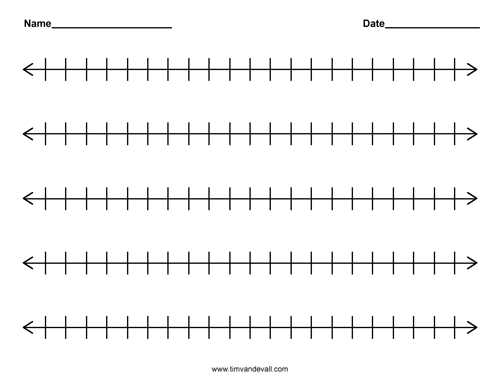 It's just an image of Number Lines Printable within practice