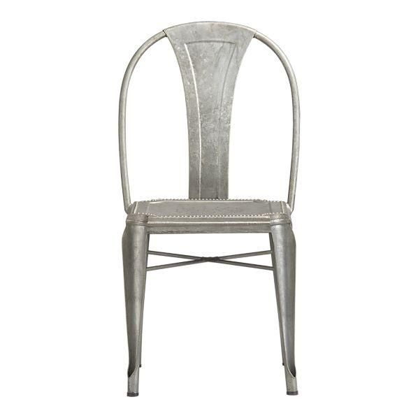 Suzie Seating Set Of 6 Lyle Side Chairs Crate Galvanized Steel Outdoor Dining