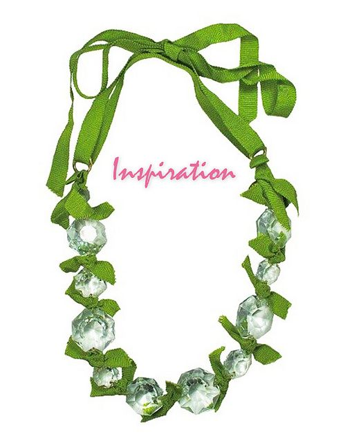 Fun Vintage Crystal Necklace Chartreuse tutorial