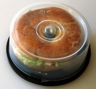 23 Life Hacks Every Girl Should Know - Turn Old CD Spindle into Bagel Holder - Life Hacks and Creative Ideas