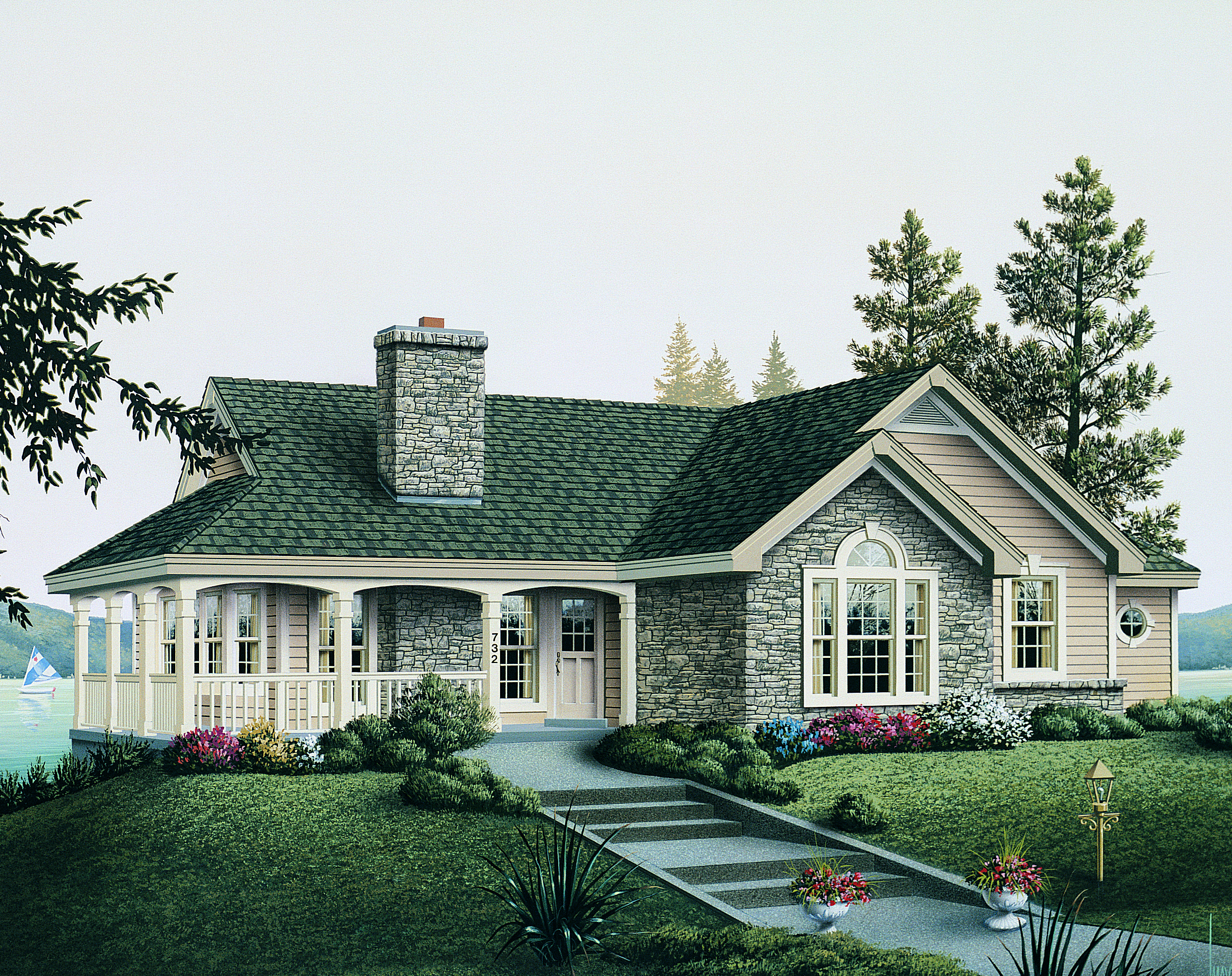 Plan 5709ha Tranquility Of An Atrium Cottage Ranch Style House Plans Country Cottage House Plans Cottage House Plans