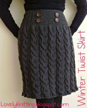 Winter Twist Skirt   Knit skirt pattern, Knit skirt ...