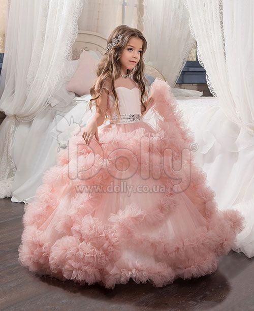 Платье Мичелл розовое   Детские вечерние платья   Girls dresses ... 761f7a44dff
