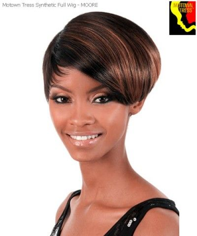Motown Tress MOORE Full Wig. Short and sophisticated with just a highlight of auburn! This wig is perfect for any season or event! #wig
