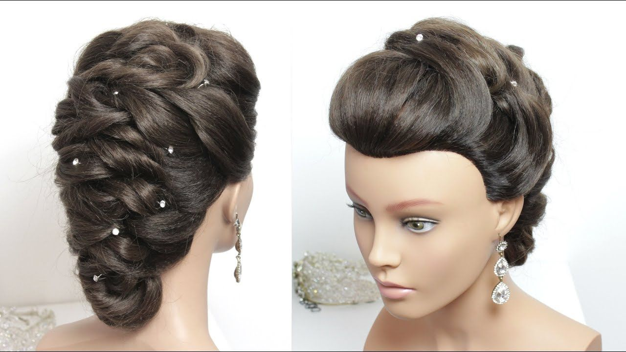 Bridal updo with twists hairstyle for long hair tutorial hair art