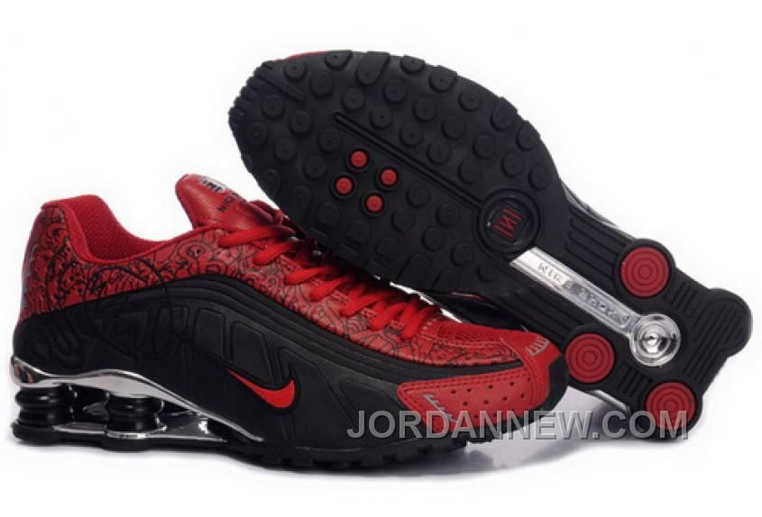 http   www.jordannew.com womens-nike-shox-r4-shoes-black-gym-red ... 8938e9045f