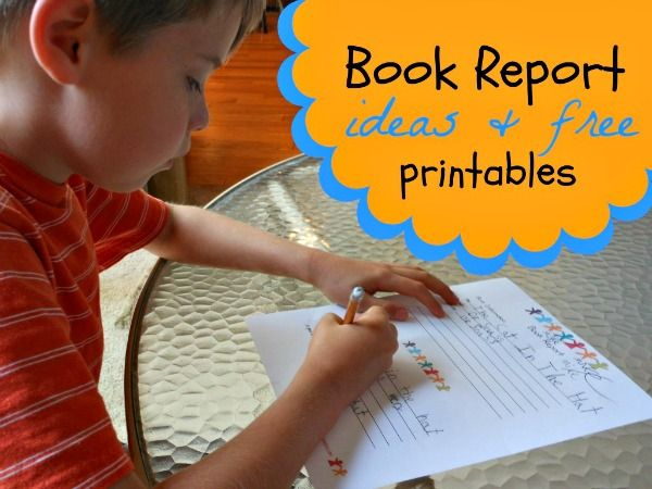 Great Idea! Printable Book Report Template For Kids  Free