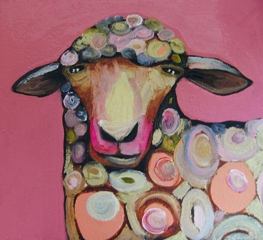 ...Sheep Bust in Strawberry ~ Eli Halpin