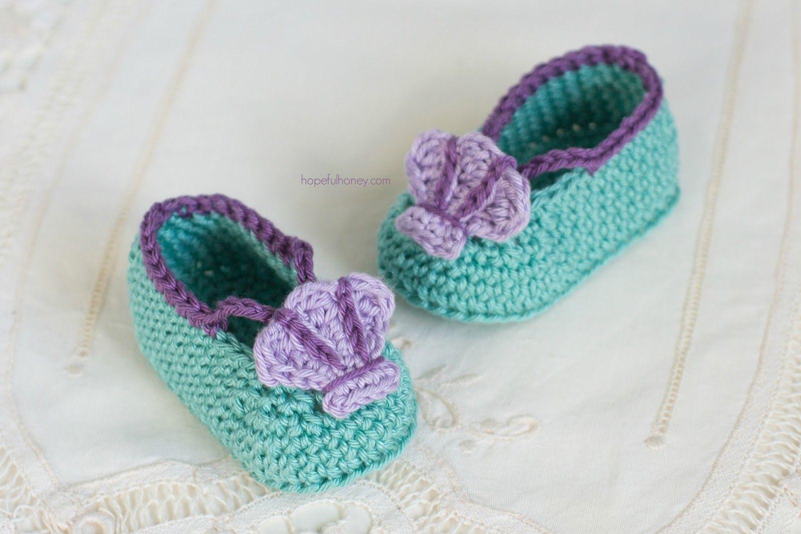 Mermaid Baby Booties - Free Crochet Pattern   Pinterest   Baby ...