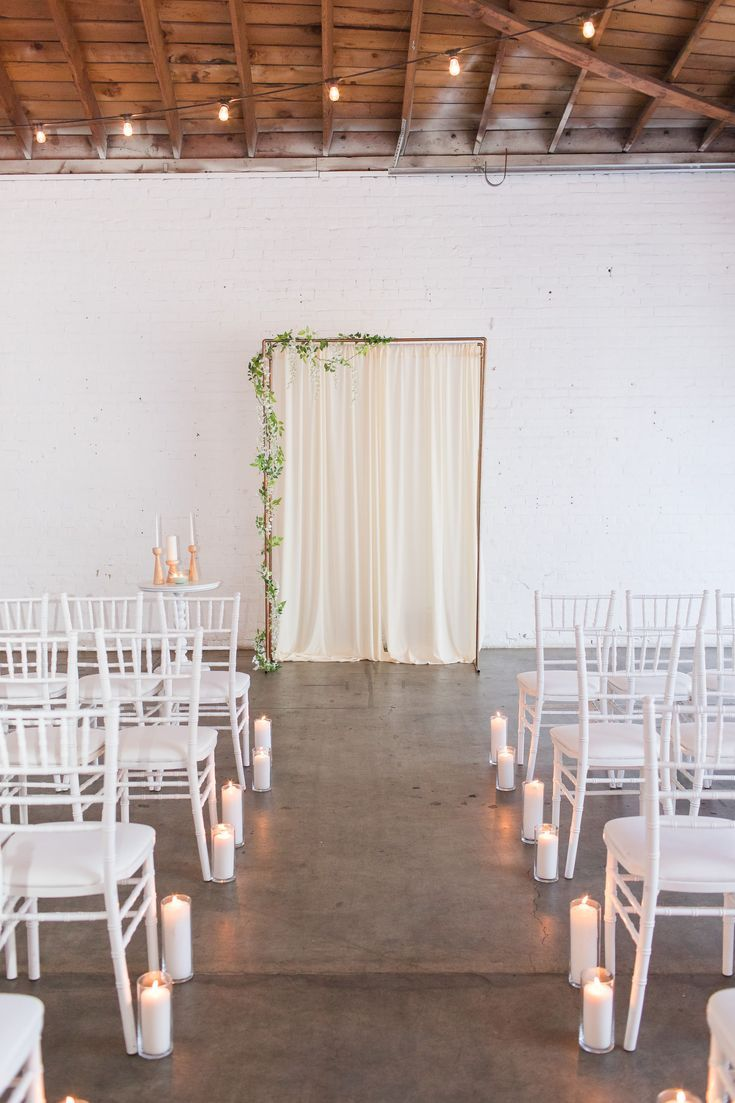 Candle Lined Aisle Wedding Ceremony Decor | A Modern Chic ...