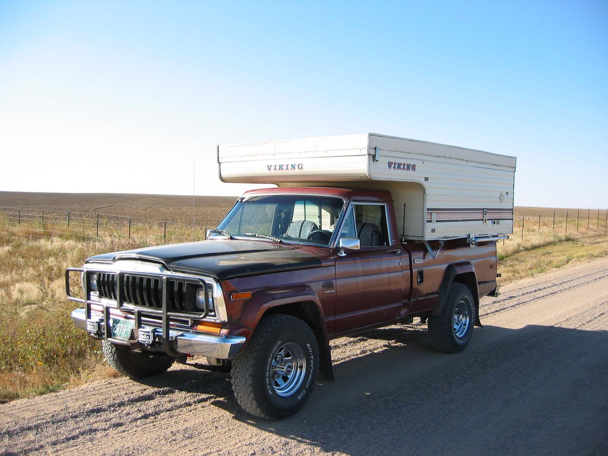 j10 with slide in camper truck pop up campers pinterest pickup camper jeeps and truck camper. Black Bedroom Furniture Sets. Home Design Ideas
